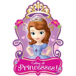sofia the first postcard invitations this party started