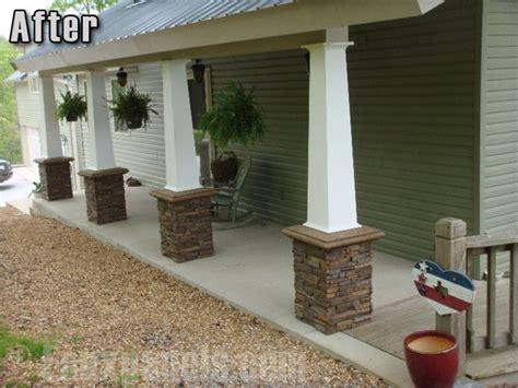 Decorative Porch Posts by Decorative Columns Beautiful Driveway Porch Columns