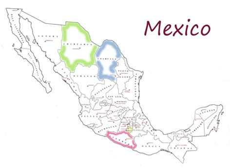 states mexico map gt mexico map with states wallpapersskin