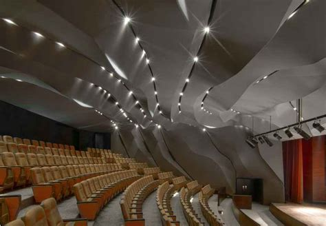 Theater Ceiling Design by Masrah Al Qasba Theater Sharjah Building E Architect