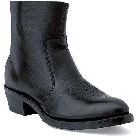 mens zip boot durango boot s black leather 7 inch side zip boots
