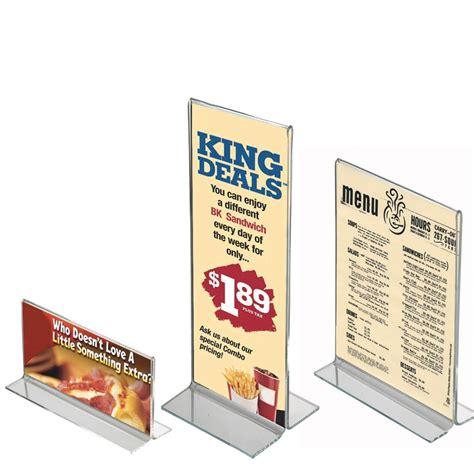 Acrylic Menu acrylic menu holder menu displays