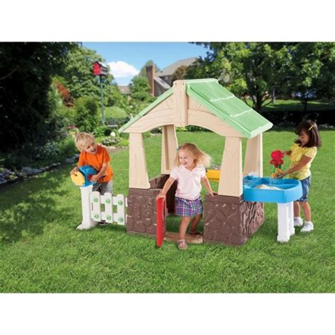 tikes 174 deluxe home garden playhouse target
