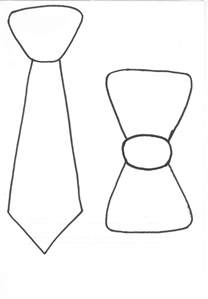 template for tie free bow tie outline search results calendar 2015
