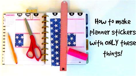 How To Make Stickers Out Of Paper - diy planner stickers no washi no etsy no problem