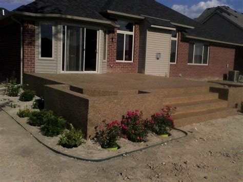 Raised Sted Concrete Patio by Raised Patio Macomb Township Traditional Patio