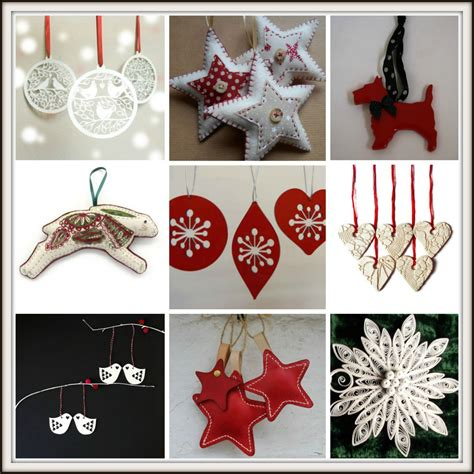 Handmade House Decorations - handmade and white tree decorations from