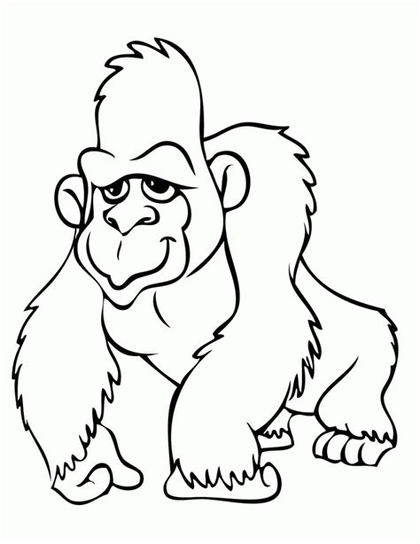 gorilla outline coloring page gorilla coloring pages clipart panda free clipart images