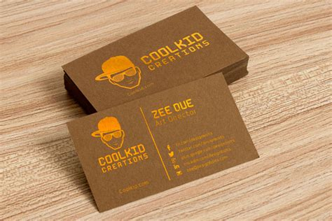 Brown Card Template by Free Brown Business Card Design Template Mockup Psd