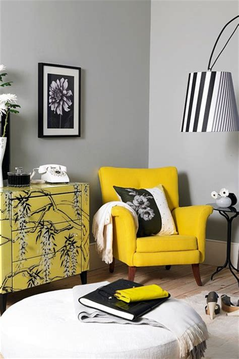Gray And Yellow Chair Design Ideas Yellow Black White Living Room Ideas Furniture Designs Houseandgarden Co Uk