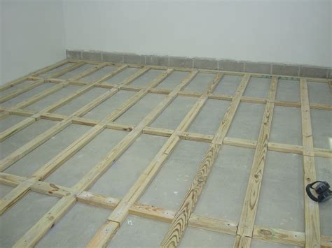 how to install a plywood shop floor the wood whisperer stained concrete floors pros and cons