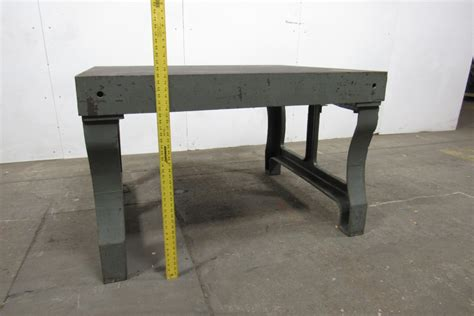 cast iron legs for bench vintage cast iron welding layout inspection work table