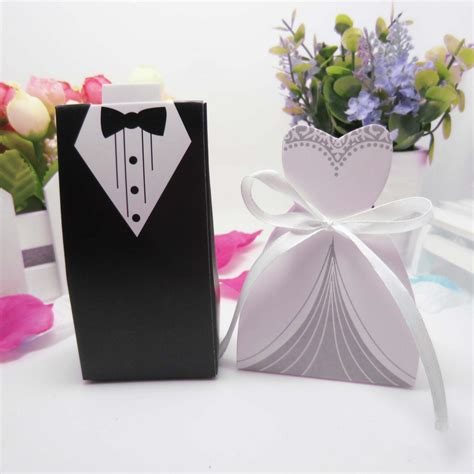 Boxes For Wedding Favors by Wedding Decoration 50pcs Groom Boxes Wedding