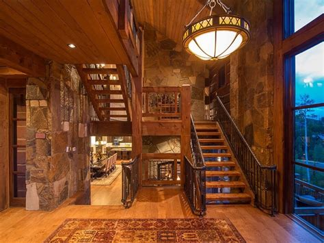 foyer designs 3 wrought iron stereo cabinet foyer decor log and stone colorado ski chalet with great room