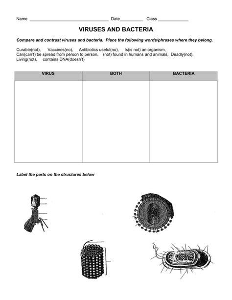 Virus And Bacteria Worksheet by Uncategorized Bacteria And Viruses Worksheet