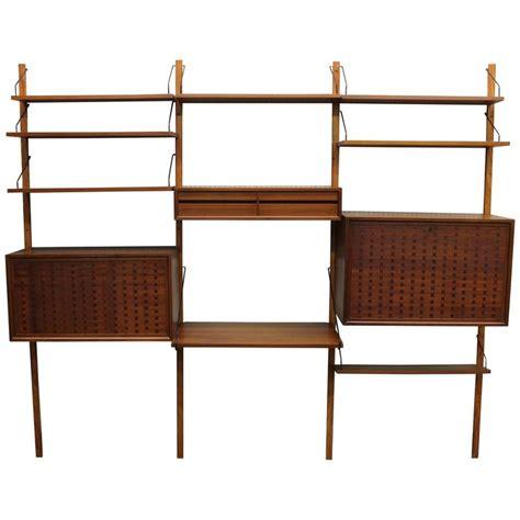 Teak Wall Shelf by Poul Cadovius Modular Teak Wall Unit Modern Shelf