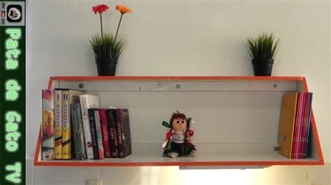 hacer librero flotante repisa librero bookshelf youtube