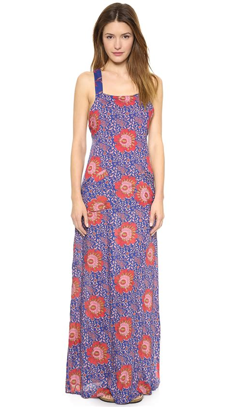 Maxi Dress Thai 2779 flynn apron maxi dress bali offering in blue lyst