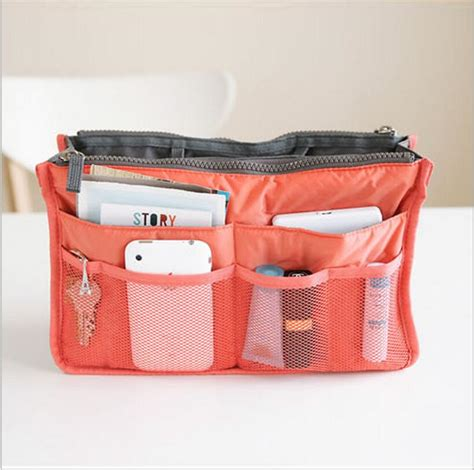 6 In 1 Traveling Bag In Bag Organizer bag in bag purse leather travel bags for