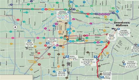 houston map galleria area 10 page