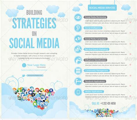 social media brochure template templates for brochure design microcreatives microcreatives