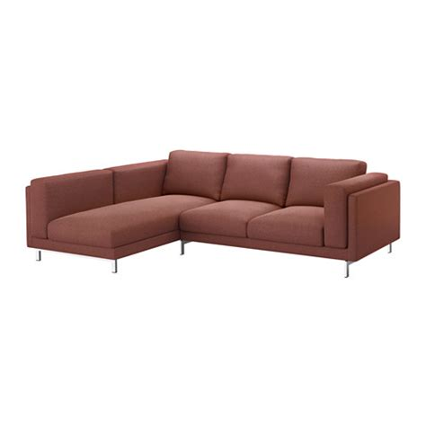 nockeby cover for 3 seat sectional left tallmyra rust ikea