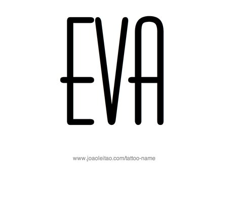eva name tattoo designs