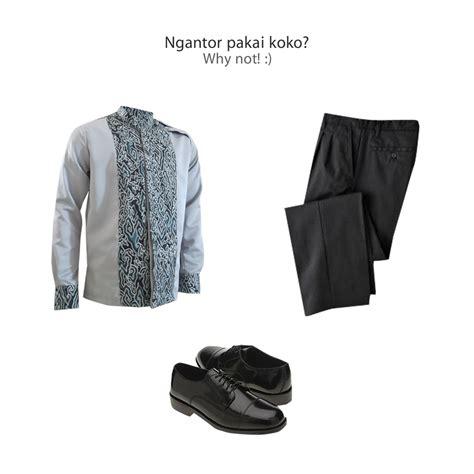 Sepatu Pantovel Pria Hitam mix match kemeja batik pria medogh untuk acar formal