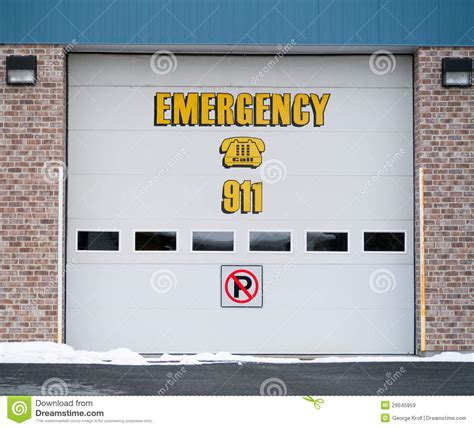 Garage Door Emergency Garage Door Emergency Sign Royalty Free Stock Images Image 29545959