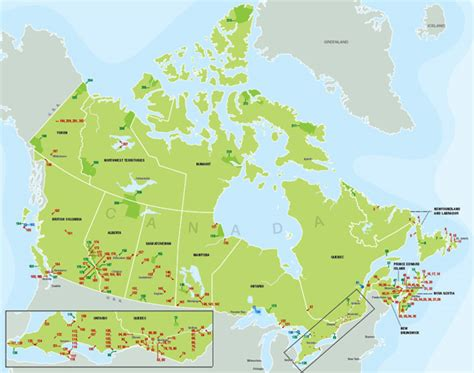 canadian national parks map national parks canada map