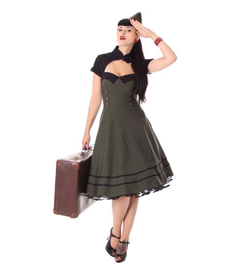 kleidung swing harbor 40er retro retro swing kleid v