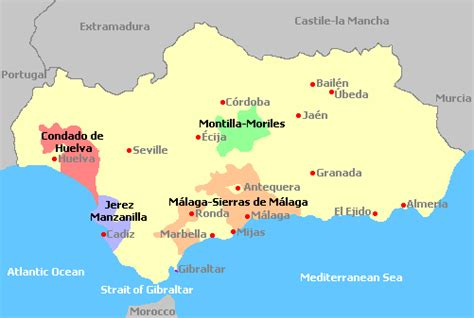 andalusia regional map 578 andalusia wine regions spain