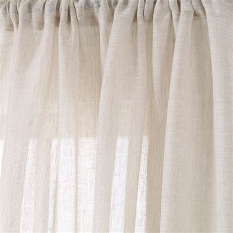 sheer drapery fabric by the yard ivory linen sheer fabric drapery fabric