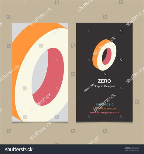 z graphic bussiness cards template logo number 0 business card template stock vector