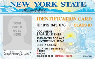 new york id card template new york state id for international students f1