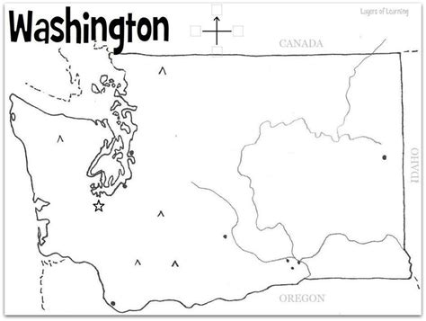 Blank Outline Map Of Washington State by Washington State Printable Map