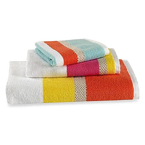 kate spade bathroom kate spade new york paintball floral stripe bath towel