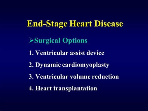 chf end stage cardiomyopathy end stage disease transplantation ppt