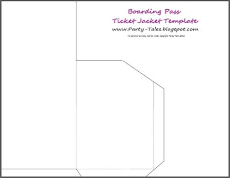 ticket envelope template tales tutorial diy how to make a boarding pass