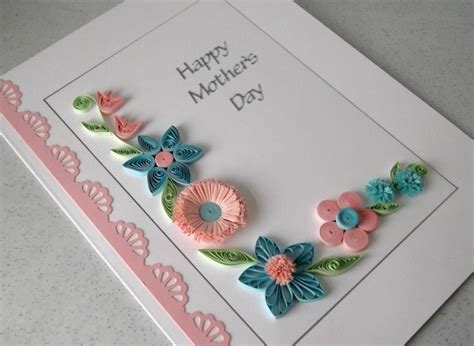 paper daisy cards quilled mother s day card quilled mother s day card handmade flowers folksy
