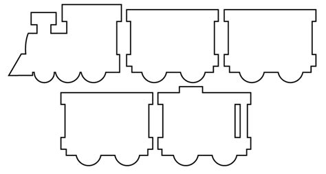 printable paper train template train shapes