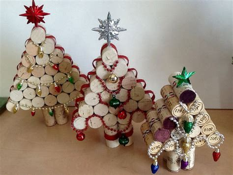 wine cork christmas tree set holiday decorations set of