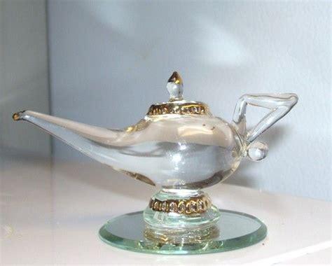 handblown glass miniature genie l 80s vintage