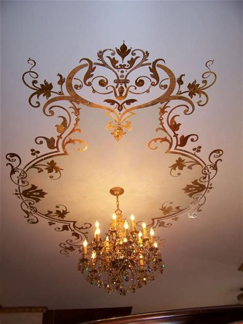beautiful ceiling stencil diy