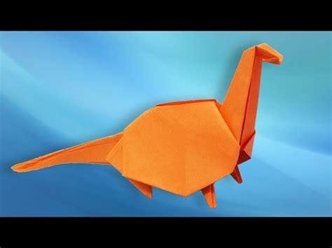 Origami Dinosaur Brontosaurus - origami dinosaur how to make a paper dinosaur