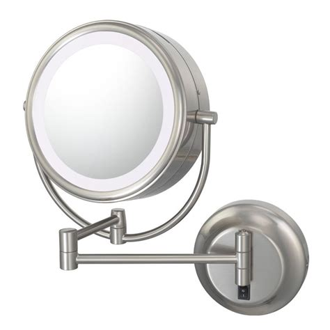 conair double sided lighted wall mount mirror brushed nickel 13 best makeup mirrors lighted wall mounted images on