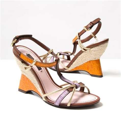 Wedges Lv Sandal Lv Sandal Gucci louis vuitton wedges at 1stdibs