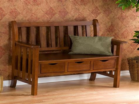 mission style bench indoor wood storage craftsman style bench mission style