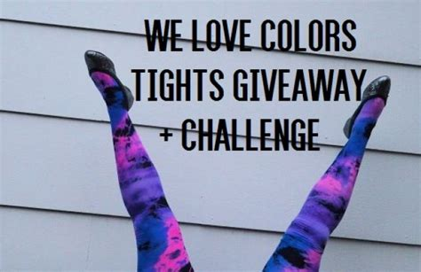 we colors tights we colors tights giveaway challenge uncustomary