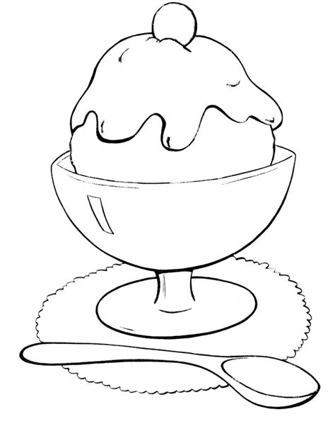coloring pages ice cream scoops ice cream scoop coloring page images pictures becuo